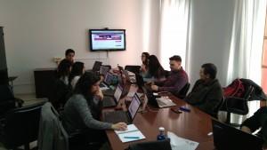 Alumnos de la Universidad de Cádiz participantes en el curso